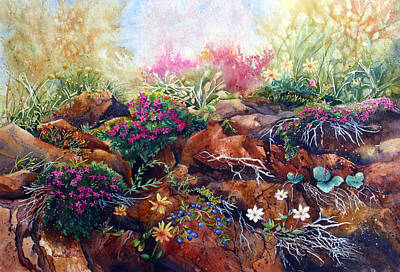 Phlox Painting - Phlox On The Rocks by Karen Mattson