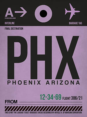 Extinct And Mythical Mixed Media - Phoenix Airport Poster 1 by Naxart Studio