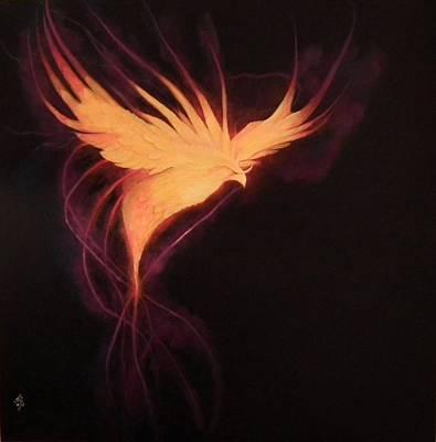 Nix Painting - Phoenix by Lisbeth M Sandvik