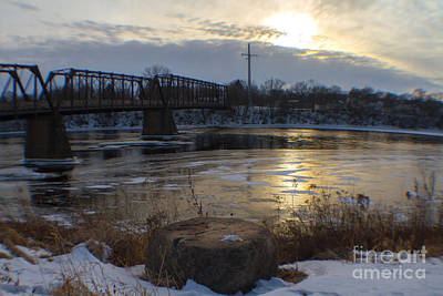 In Eau Claire Wi Photograph - Phoenix Park Sun Reflections by Lowell Stevens