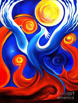 Phoenix Rising Print by Gem S Visionary