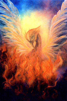 Flaming Painting - Phoenix Rising by Marina Petro