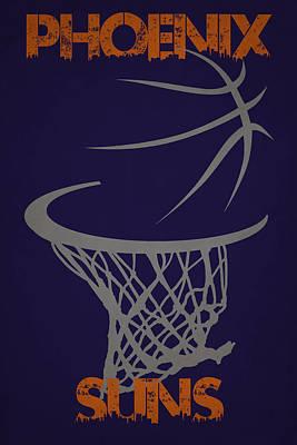 Phoenix Suns Hoop Print by Joe Hamilton