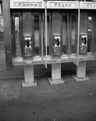Phone Booth In New York City Print by Dan Sproul