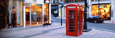 Phone Booth, London, England, United Print by Panoramic Images