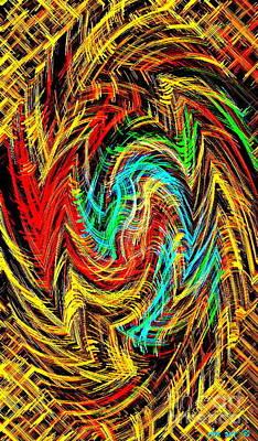 Phone Case Art Bold And Colorful Abstract Geometric Textures Designs By Carole Spandau 128 Cbs Art  Print by Carole Spandau