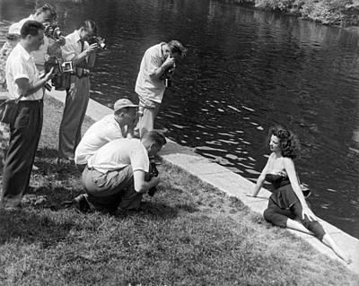 Photogenic Photo Shoot Print by Underwood Archives