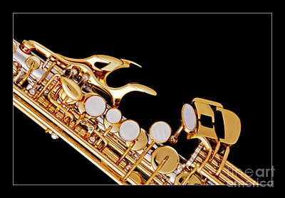 Saxophone Photograph - Photograph Of A Soprano Saxophone In Color 3342.02 by M K  Miller