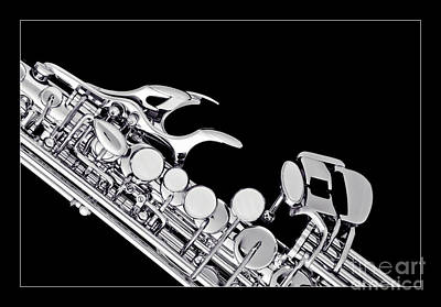 Saxophone Photograph - Photograph Of A Soprano Saxophone In Sepia 3342.01 by M K  Miller