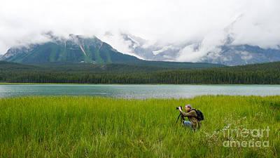 Banff Canada Photograph - Photographer Edward M. Fielding In The Field by Edward Fielding