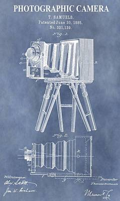 Canon Digital Art - Photographic Camera Patent by Dan Sproul