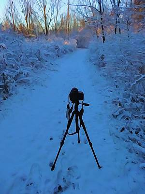 Canon Digital Art - Photography In The Winter by Dan Sproul