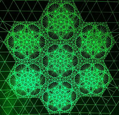 Drawing - Photon Interference Fractal by Jason Padgett