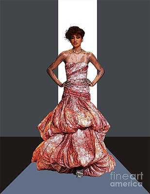 Songstress Digital Art - Phyllis Hyman In Siriano by Walter Oliver Neal