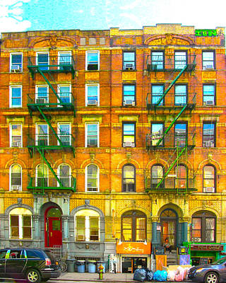 Physical Graffiti Houses Print by Adam Workman