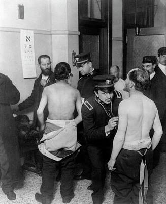 Ellis Island Photograph - Physicians Examining Jewish Immigrants by Universal History Archive/uig