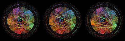 Circle Digital Art - Pi Phi And E Transition Paths by Martin Krzywinski