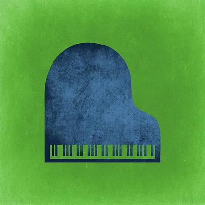 Jazz Band Digital Art - Piano Blues by Flo Karp