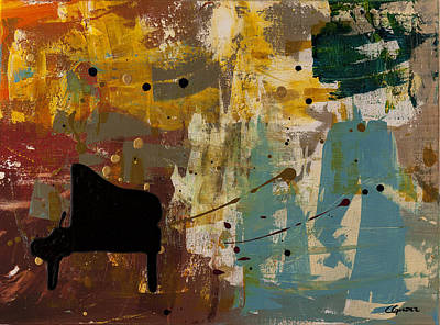 Trombone Painting - Piano Concerto by Carmen Guedez