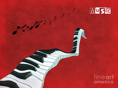 Surrealist Digital Art - Piano Fun - S01at01 by Variance Collections