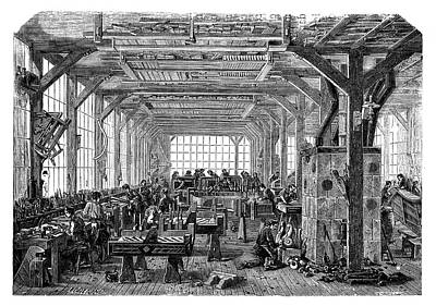 1875 Photograph - Piano Manufacturing by Science Photo Library