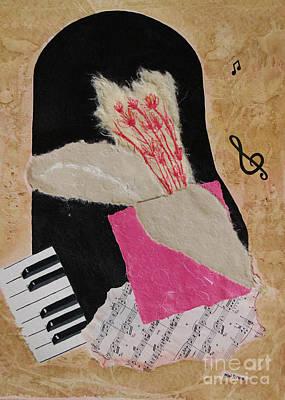 Mini Arora Abstracts Mixed Media - Piano Still Life by Mini Arora