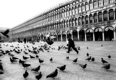 Piazza San Marco Venice Italy 1998 Print by Heidi Wild