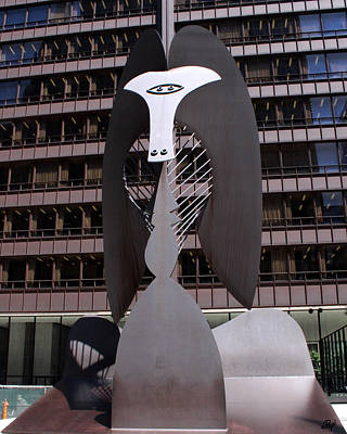 Picasso On The Plaza Print by Paul Anderson