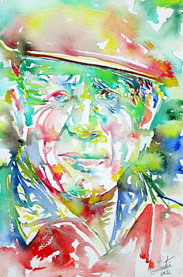 Picasso Pablo Watercolor Portrait.1 Print by Fabrizio Cassetta
