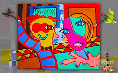 Picasso Painting Print by Marvin Blaine