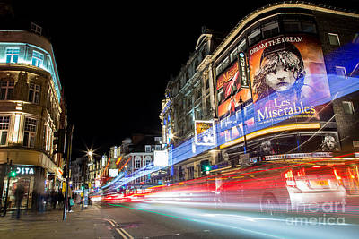 A Night In The West End Print by John Daly