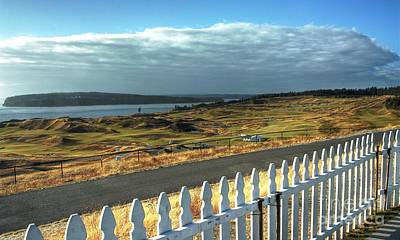 Golf Photograph - Picket Fence - Chambers Bay Golf Course by Chris Anderson