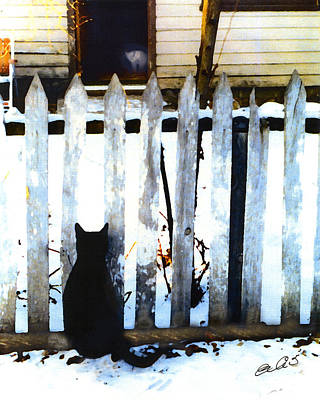 Picket Fence Love Print by Elia Peters