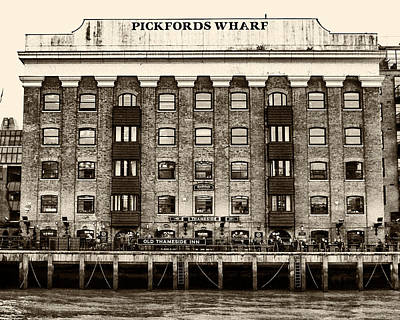 London Photograph - Pickford's Wharf by Brian Orlovich