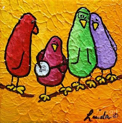 Limbbirds Painting - Pickin by LimbBirds Whimsical Birds