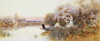 Edge Painting - Picking Blossoms by Thomas James Lloyd