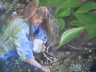 Picking Blueberries Print by Joyce Reid