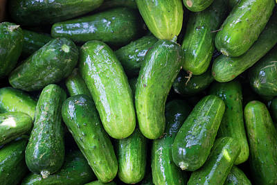 Pickling Cucumbers For Sale Print by Julien Mcroberts