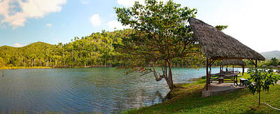 Picnic Area At Pond, Las Terrazas Print by Panoramic Images