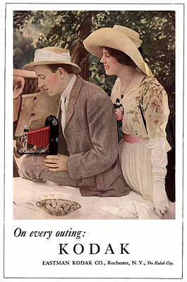 Picnic With The Roadster. Circa 1912. Print by Unknown Photographer