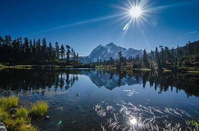 Seattle Photograph - Picture Lake Mount Baker National Forest by Puget  Exposure
