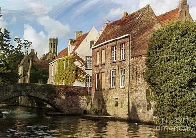 Gothic Bridge Photograph - Picturesque Bruges by Juli Scalzi