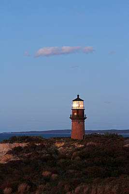 Picturesque New England Lighthouse Photography Of Gay Head Light Print by Juergen Roth