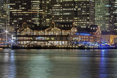 Night Photograph - Pier 17 South Street Seaport Nyc by Susan Candelario
