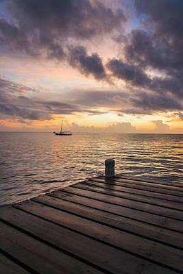 Pier At Sunset Vertical  Original by Yuri Santin