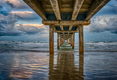 Surf Photograph - Pier Before The Storm  by Tod and Cynthia Grubbs