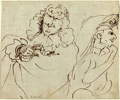 Viper Drawing - Pier Francesco Mola Italian, 1612 - 1666 by Quint Lox