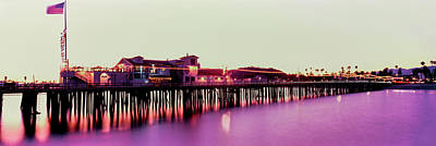 Pier Illuminated At Dusk, Stearns Print by Panoramic Images