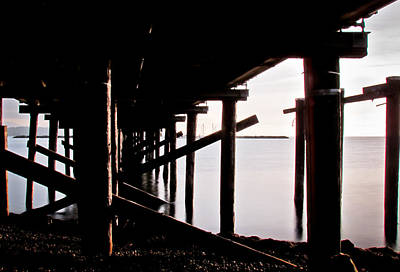 Seascape Photograph - Pier Ocean And Angles by Eva Kondzialkiewicz