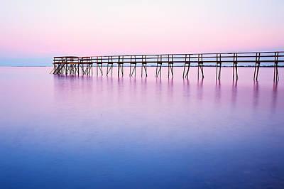 Pier On Lake Winnipeg Print by Ken Gillespie